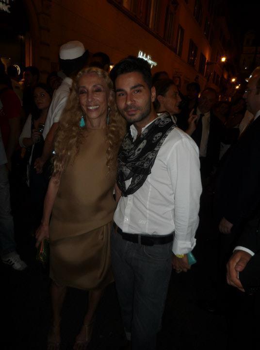 Andrea Danese con Franca Sozzani