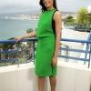 Freida je za dnevnu varijantu odabrala jarko zelenu haljinu
