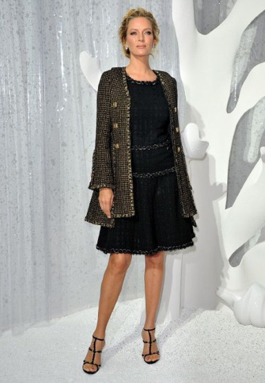 Uma Thurman, Chanel proleće/leto 2012 Ready-to-Wear, Pariz Fashion Week