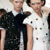 Alyona Subbotina and Daga Ziober, Fendi SS12 Backstage