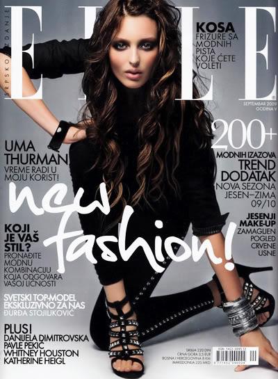 Georgina Stojiljkovic za Elle Srbija Septembar 2009.