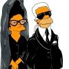 Homer i Marge Simpson Diane, Perne i Karl Lagerfeld