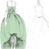 Skice kostima, koje je specijalno za film radila Miuccia Prada, a o ovoj zelenoj haljini najviše se priča