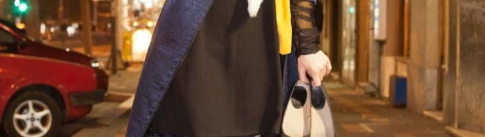 Elena Nikolaevna, modna blogerka; Kaput: Marta Miljanić, foto Branislav Jovanović