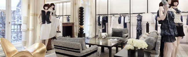 CHANEL boutique at 51 Avenue Montaigne in Paris