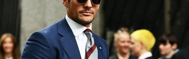 Model David Gandy na sajmu mode Pitti Uomo