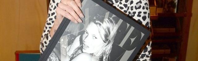 Kate Moss na promociji knjige