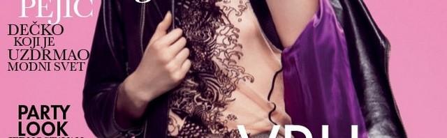 Andrej Pejić na naslovnici Elle Srbija Januar 2013; Fotograf: Dušan Reljin; Šminka: Hilde Pettersen Reljin; Kosa: Leonardo Manetti za ION Studio
