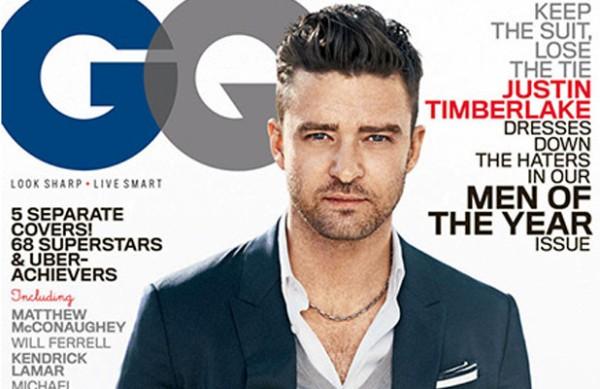 Naslovnica GQ magazina i Justin na njoj