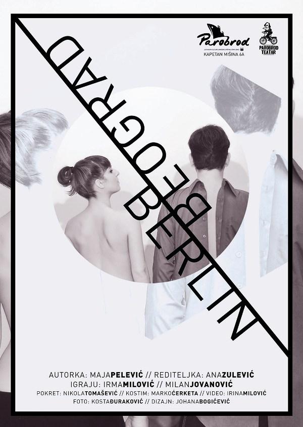 Poster za predstavu BEOGRAD-BERLIN