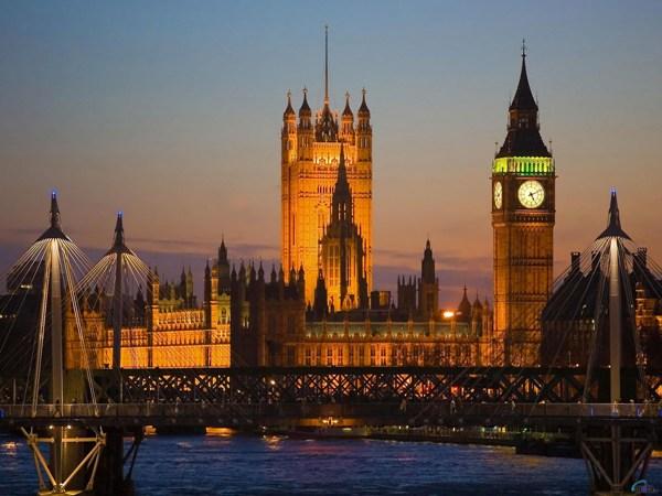 Pogled na London noću
