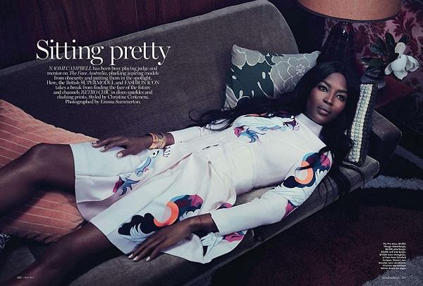 Naomi Campbell za Vogue Australia Maj 2014