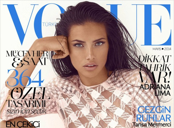 Adriana Lima za Vogue Turkey Maj 2014