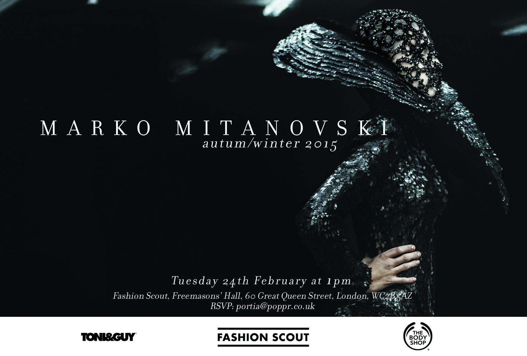 Marko Mitanovski invitation