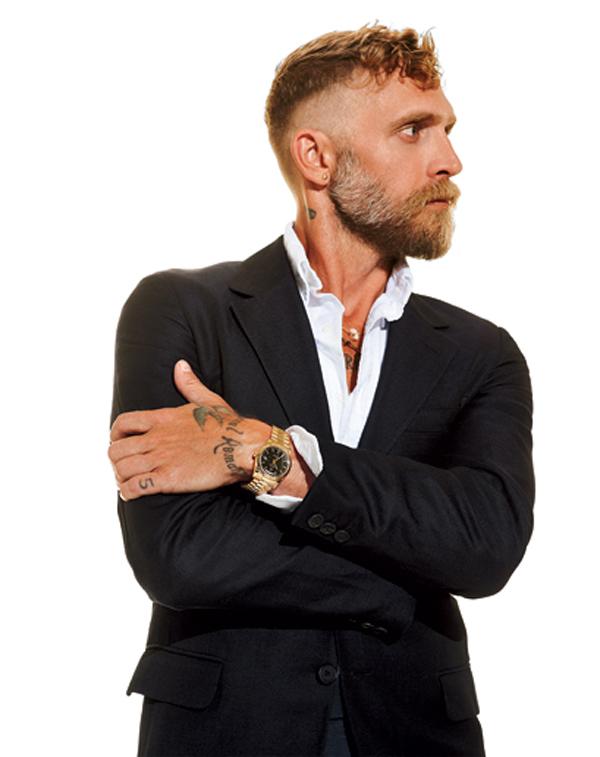 Modni dizajner, Philip Crangi nosi Rolex Oyster Perpetual Day-Date
