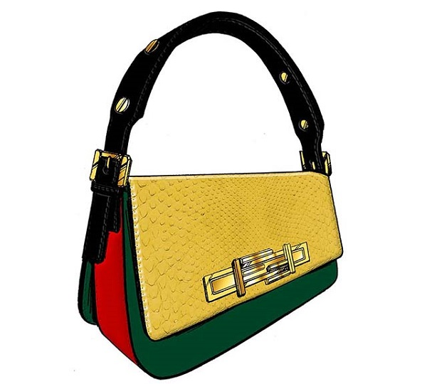 FENDI 3Baguette by Jourdan Dunn