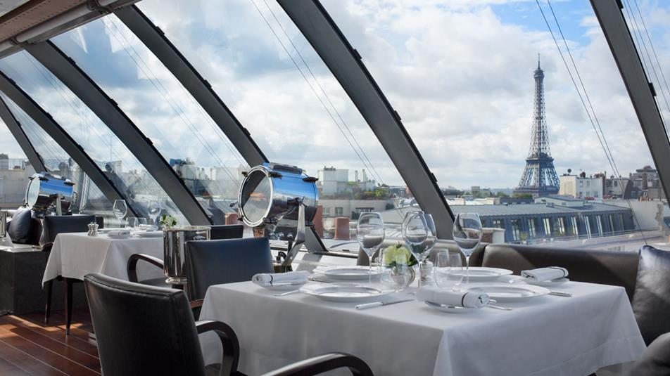 Peninsula Paris, L'Oiseau Blanc Restaurant (roof-top)