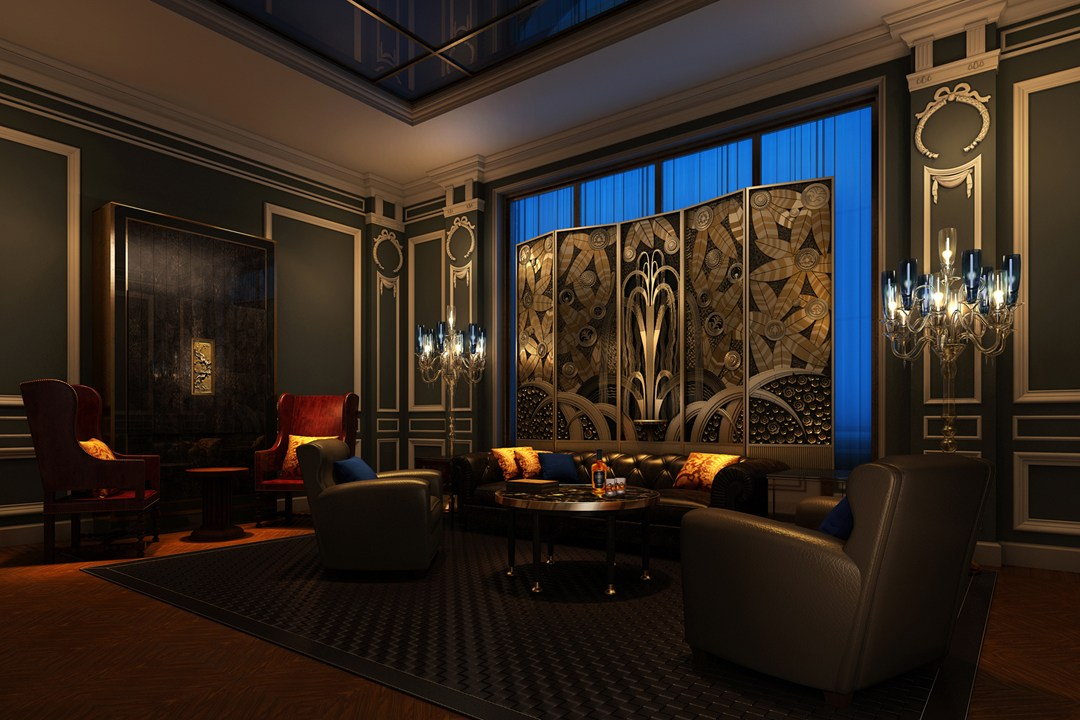 The Peninsula Paris hotel cigar lounge