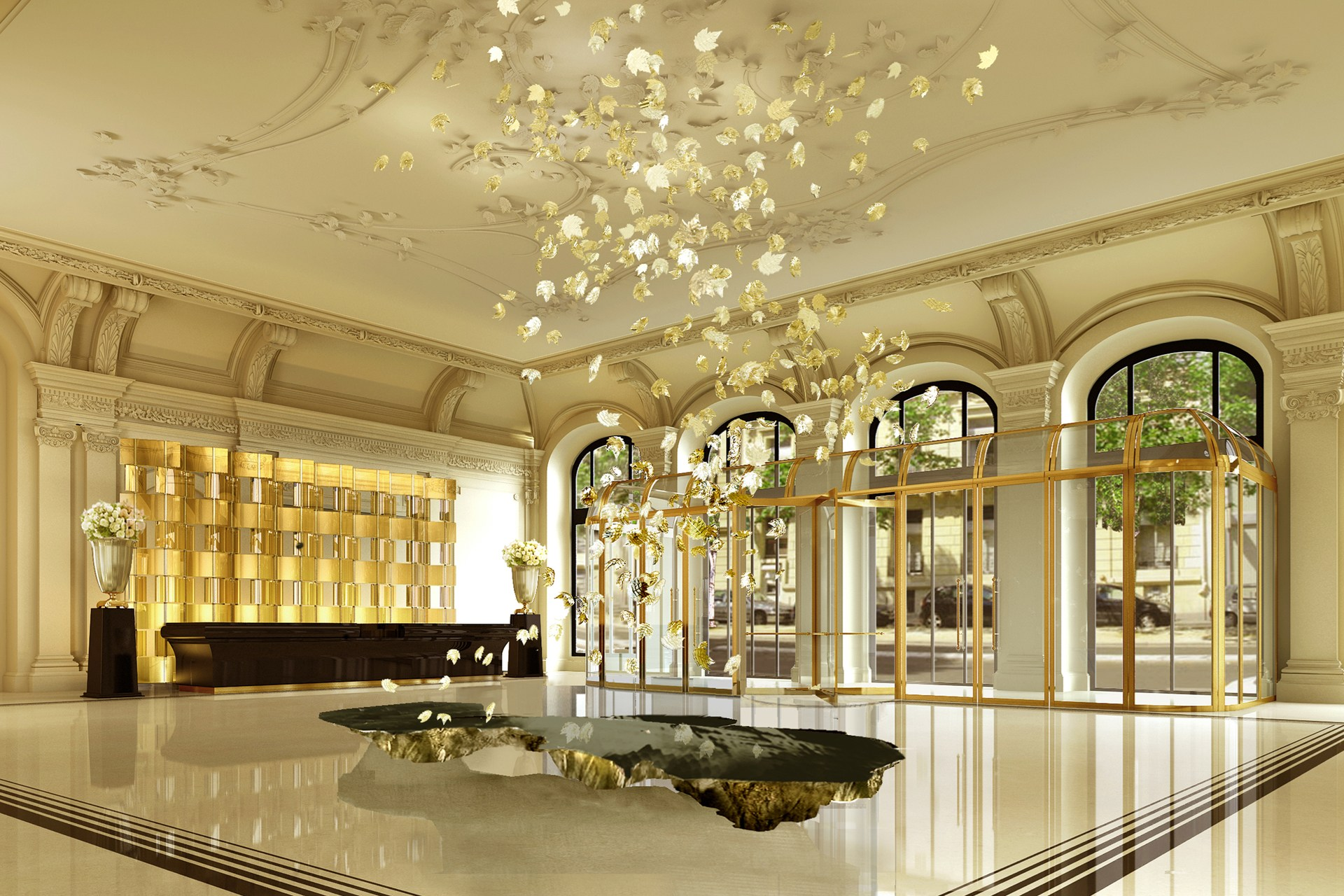 The Peninsula Paris hotel lobby