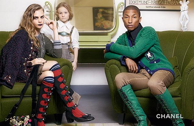 Cara i Pharell u Chanel Pre Fall 2015 kampanji