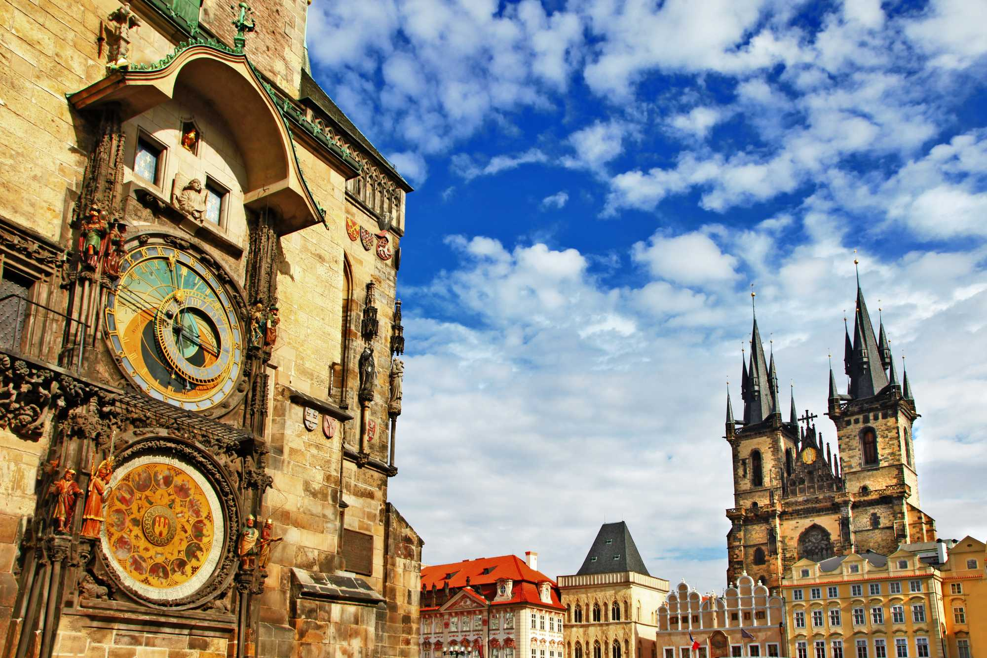Old Town square and the Prague Astronomical Clock