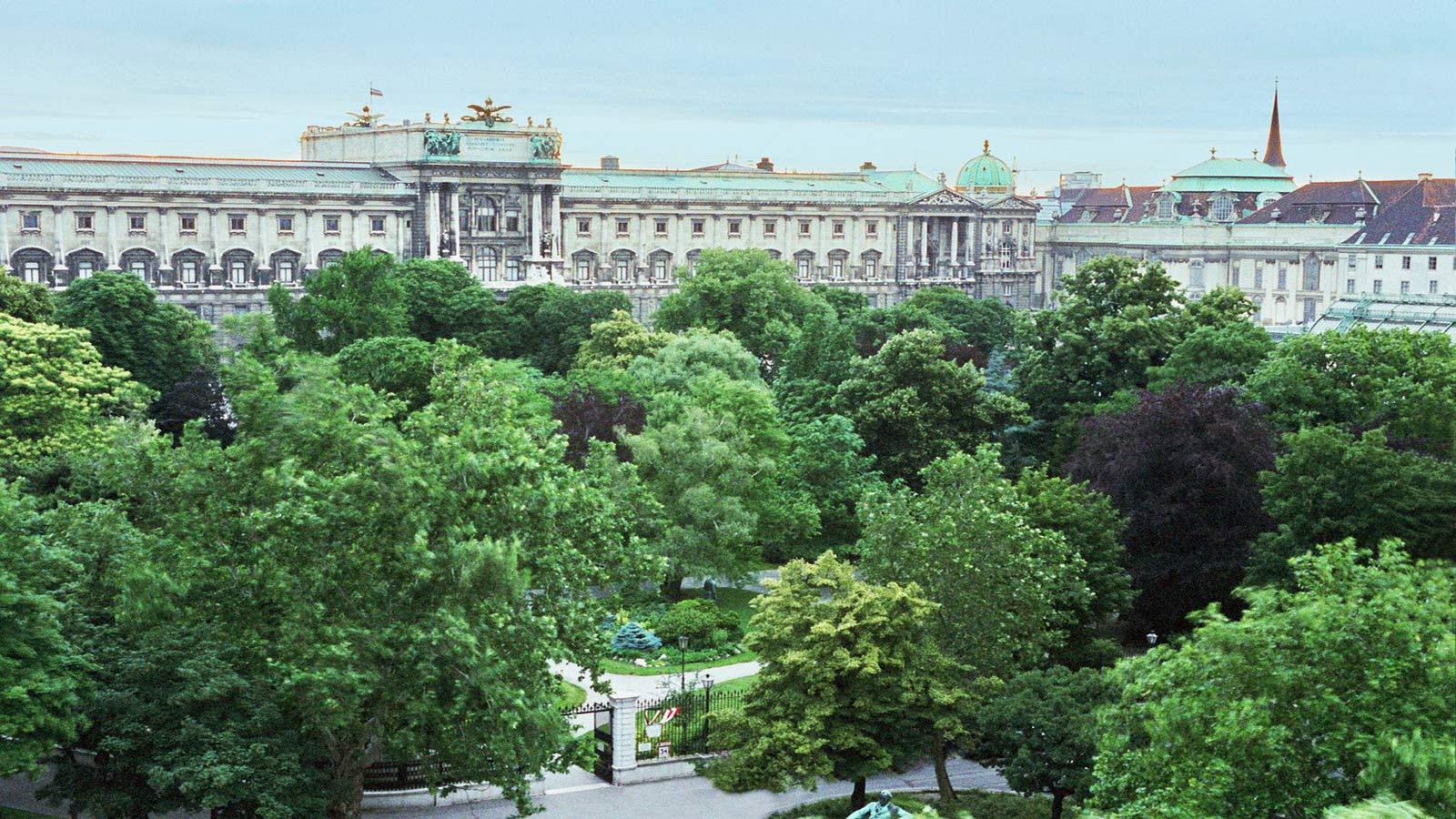Le Meridien Hotel in Vienna - view on Burggarten