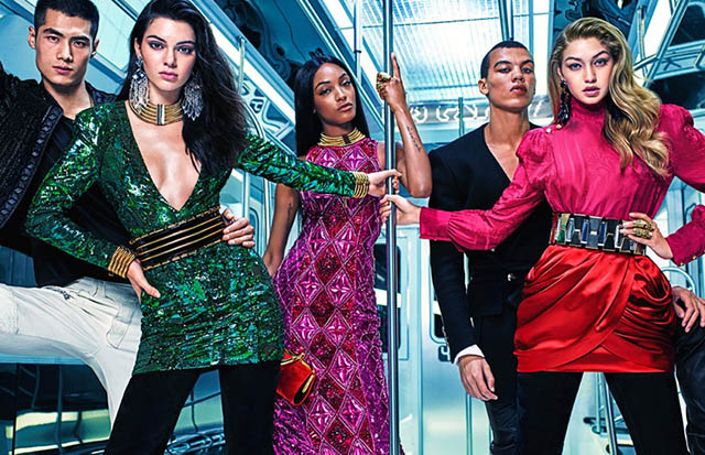 Gigi, Kendall and Jourdan in new Balmain x H&M camapign