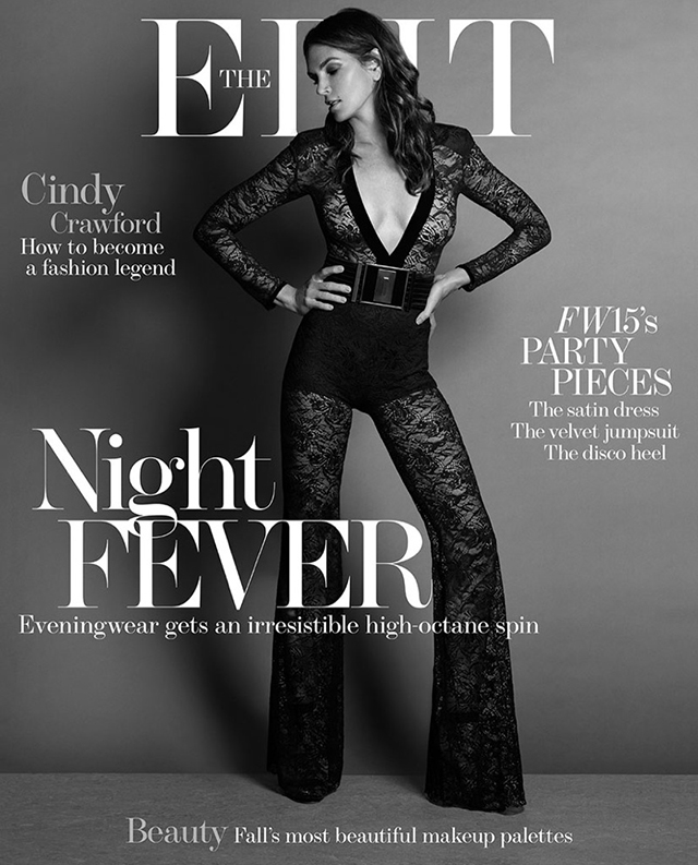 Cindy Crawford poses for The Edit