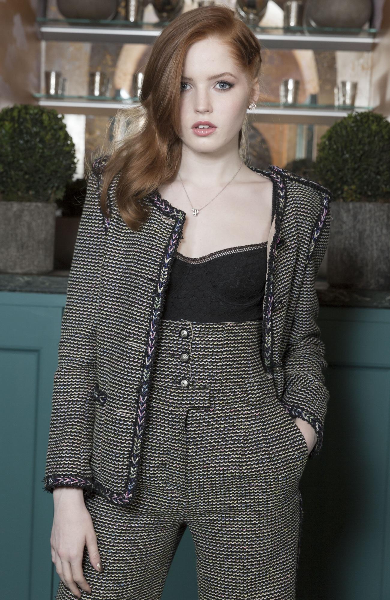 Ellie Bamber Chanel Pre-Bafta Fashionela