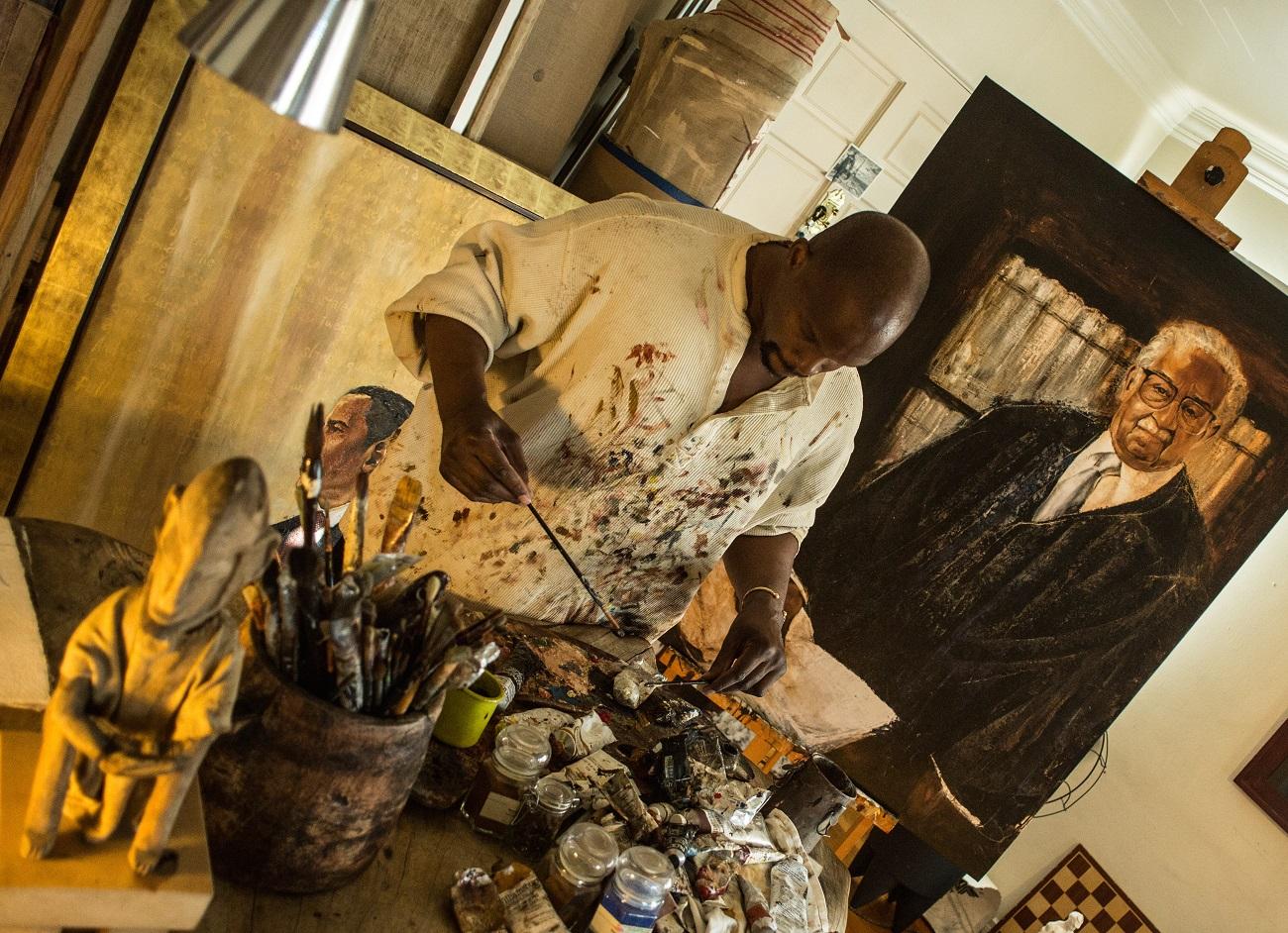 Painting of Thurgood Marshall. Photo Woodruff Laputka Fashionela