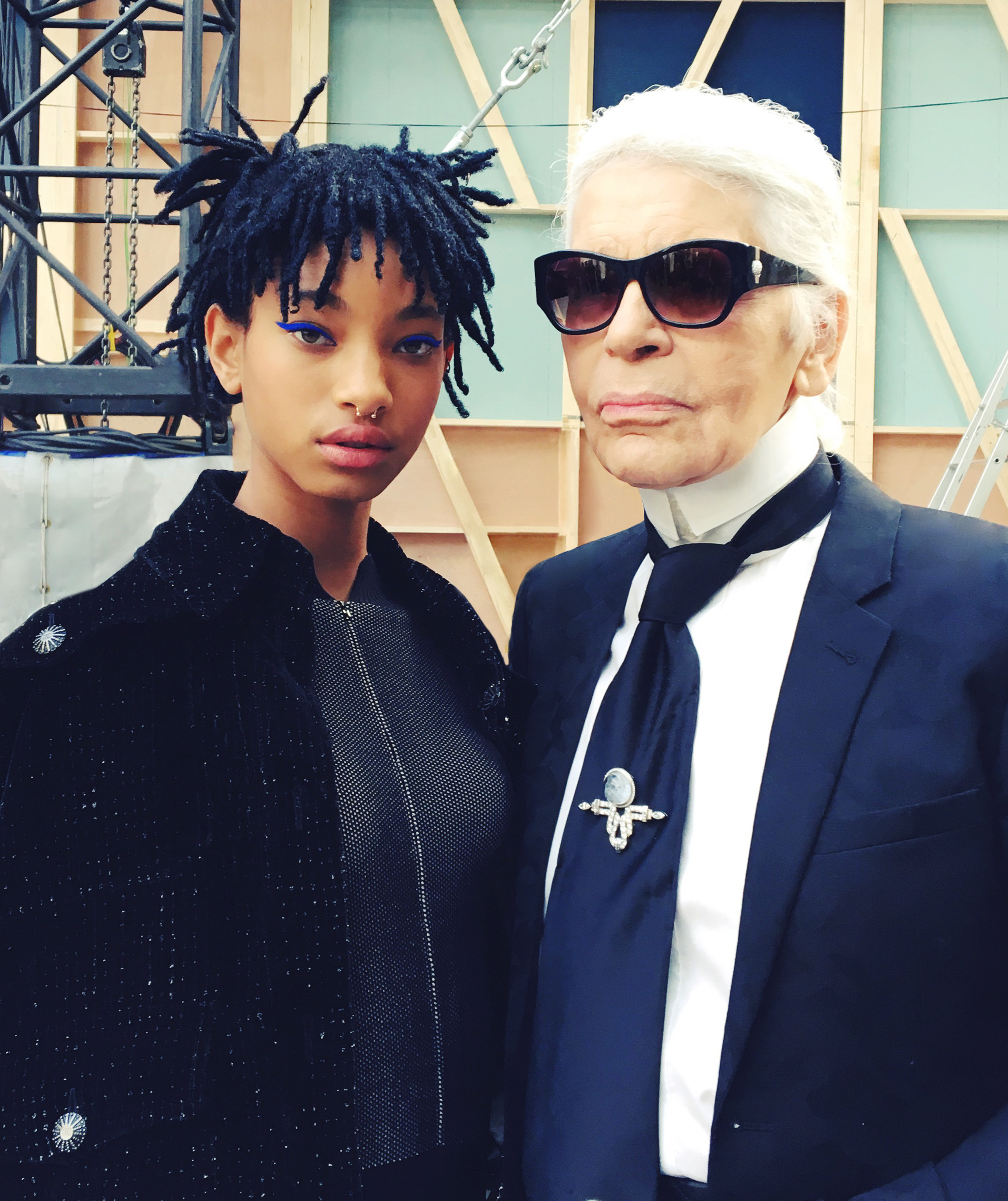 Karl Lagerfeld and Willow Smith Fashionela