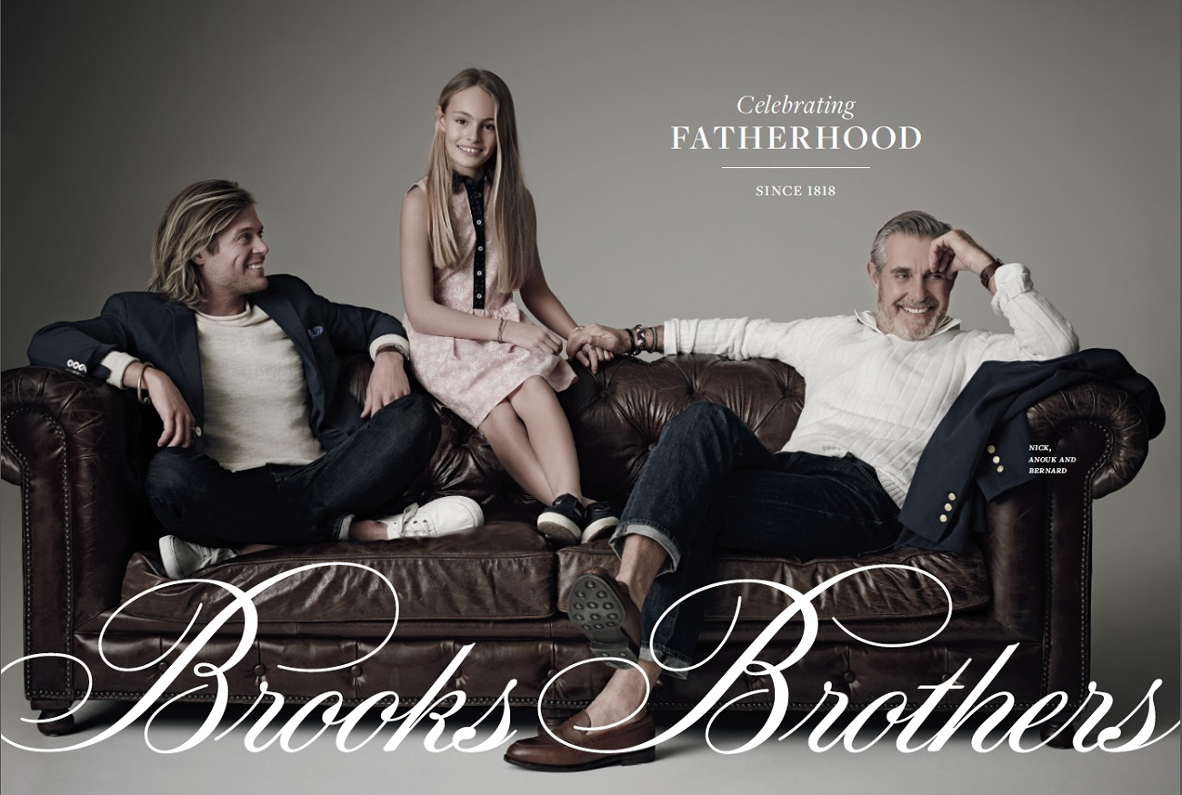 Nick, Anouq and Bernard Fouquet for Brooks Bros