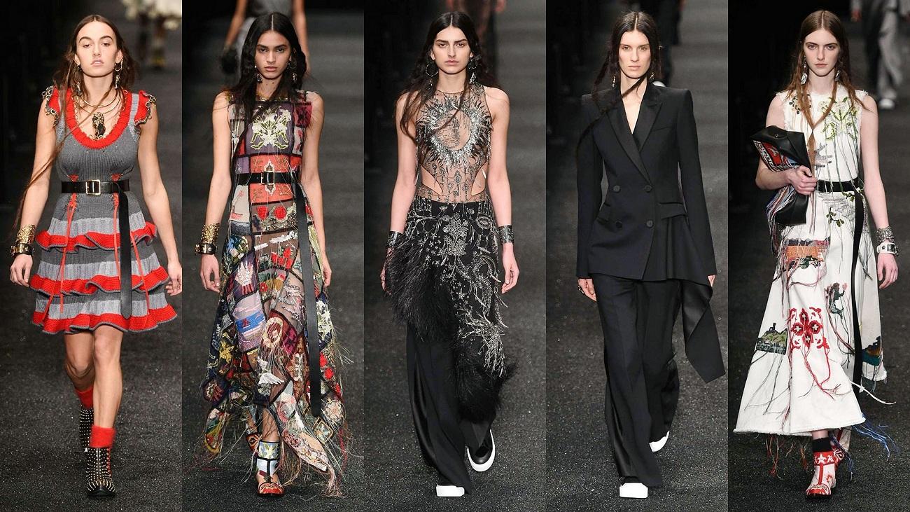 Alexander McQueen Fall17 Fashionela