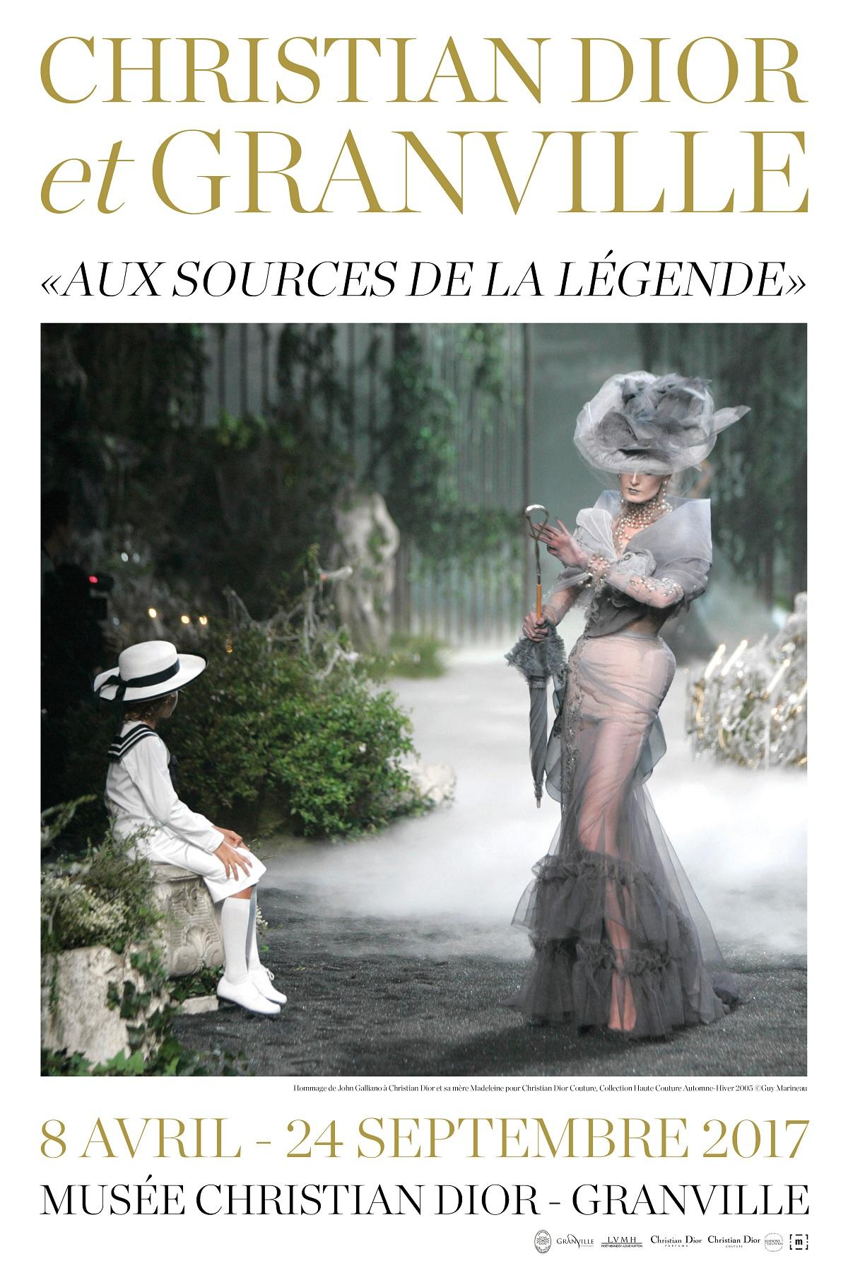 Christian Dior et Granville - Exhibition poster Fashionela