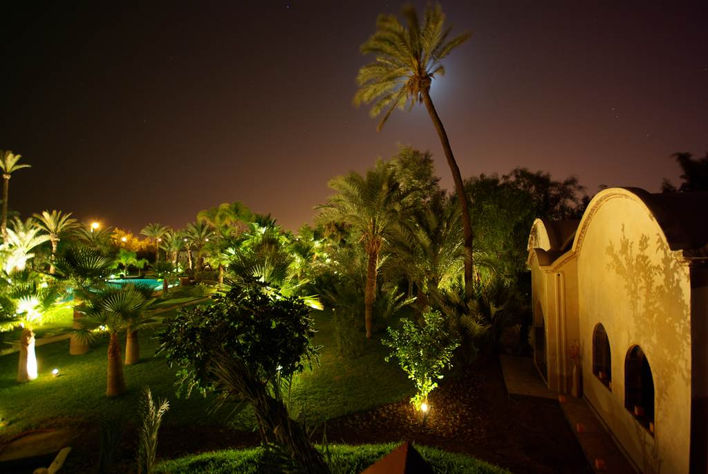 Lodge K Marrakech at night