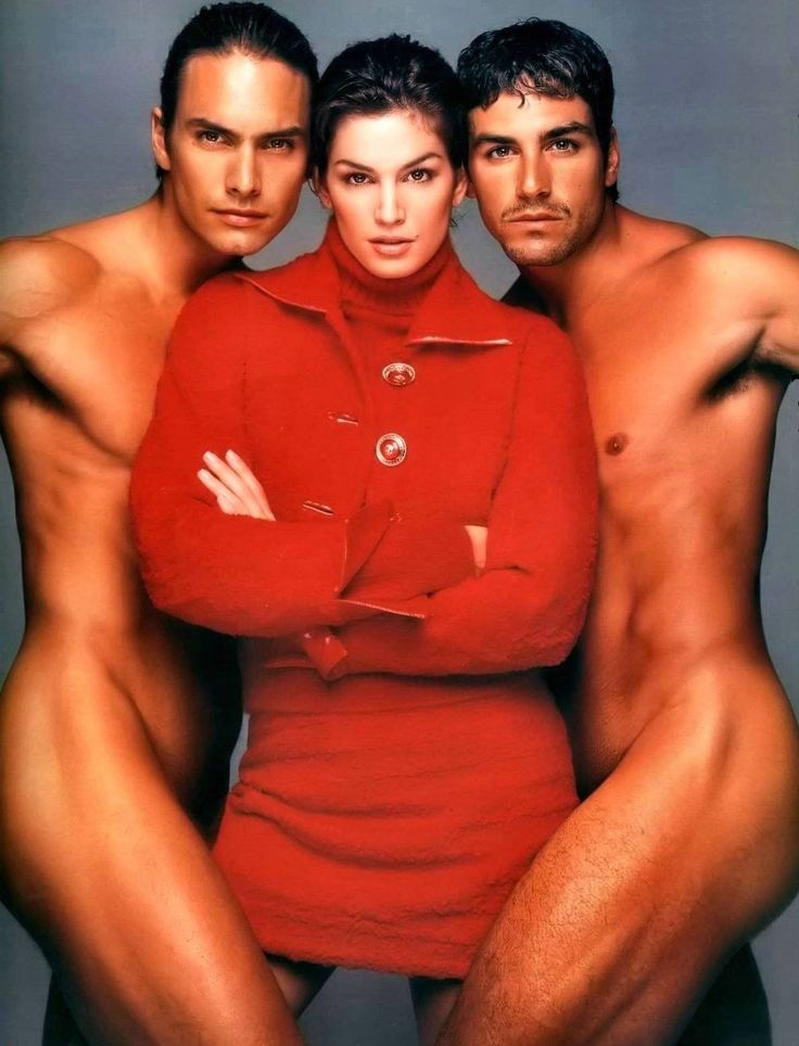 Marcus Schenkenberg, Cindy Crawford and Eric Etebari for Gianni Versace, photographed by Richard Avedon