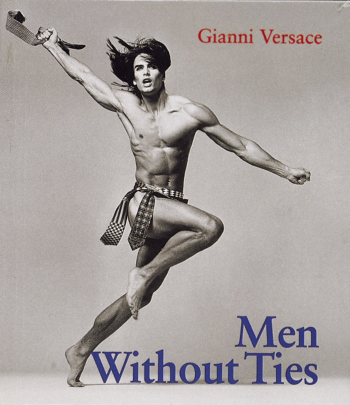 Marcus Schenkenberg on the cover of Versace book - Men Without Ties