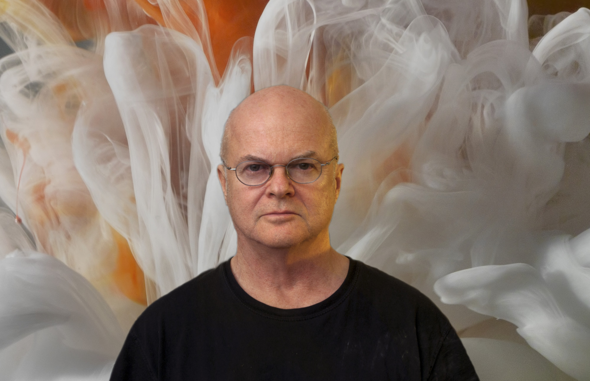 PORTRAIT OF KIM KEEVER WITH Abstract 11192