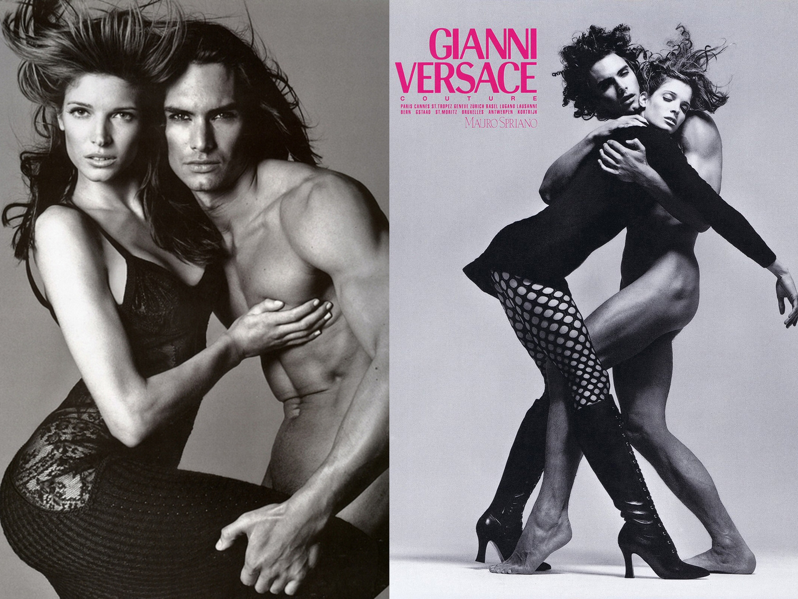 Stephanie Seymour and Marcus Schenkenberg by Richard Avedon Vogue Italy July 1993