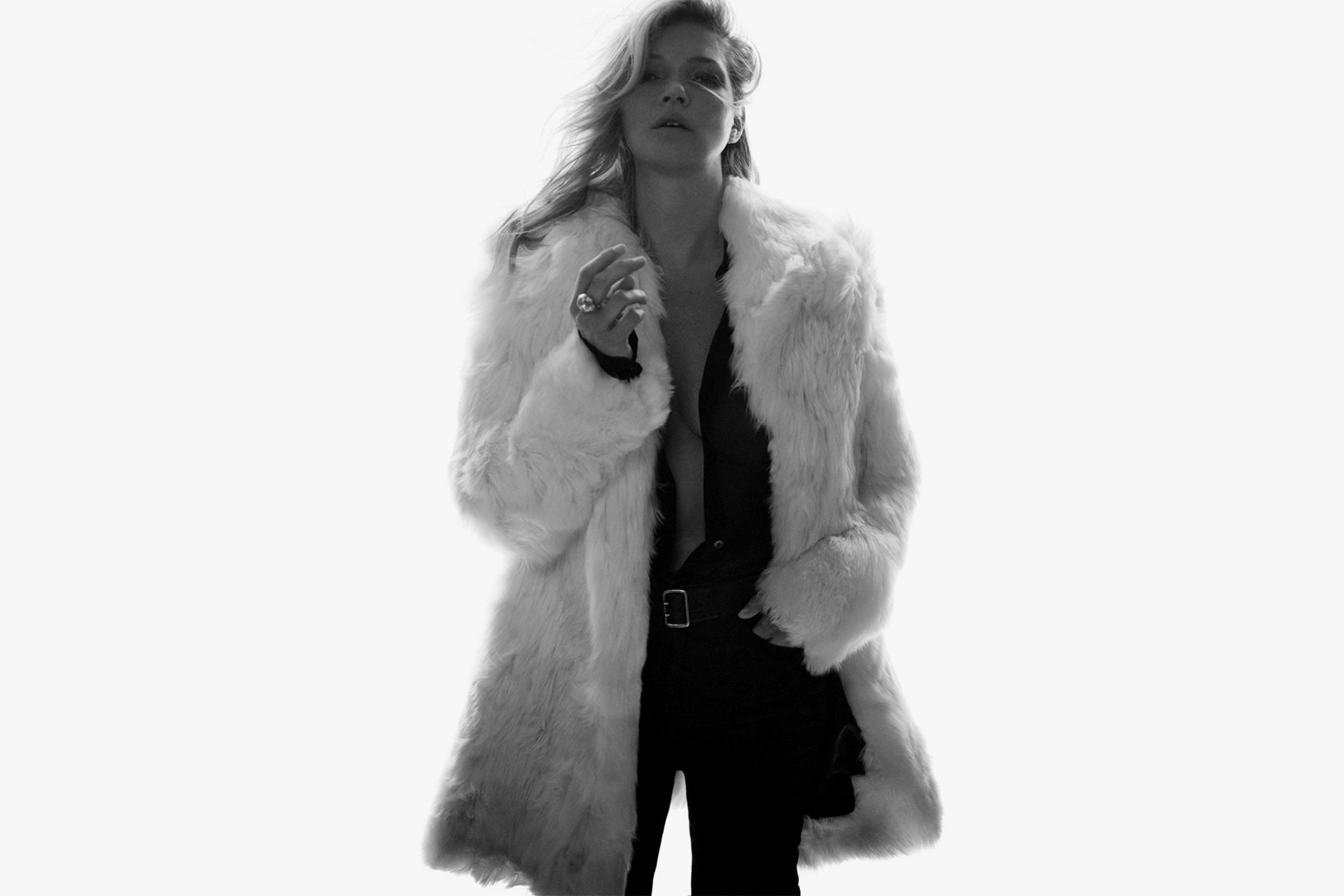 Kate Moss Saint Laurent SS 2018 Fashionela