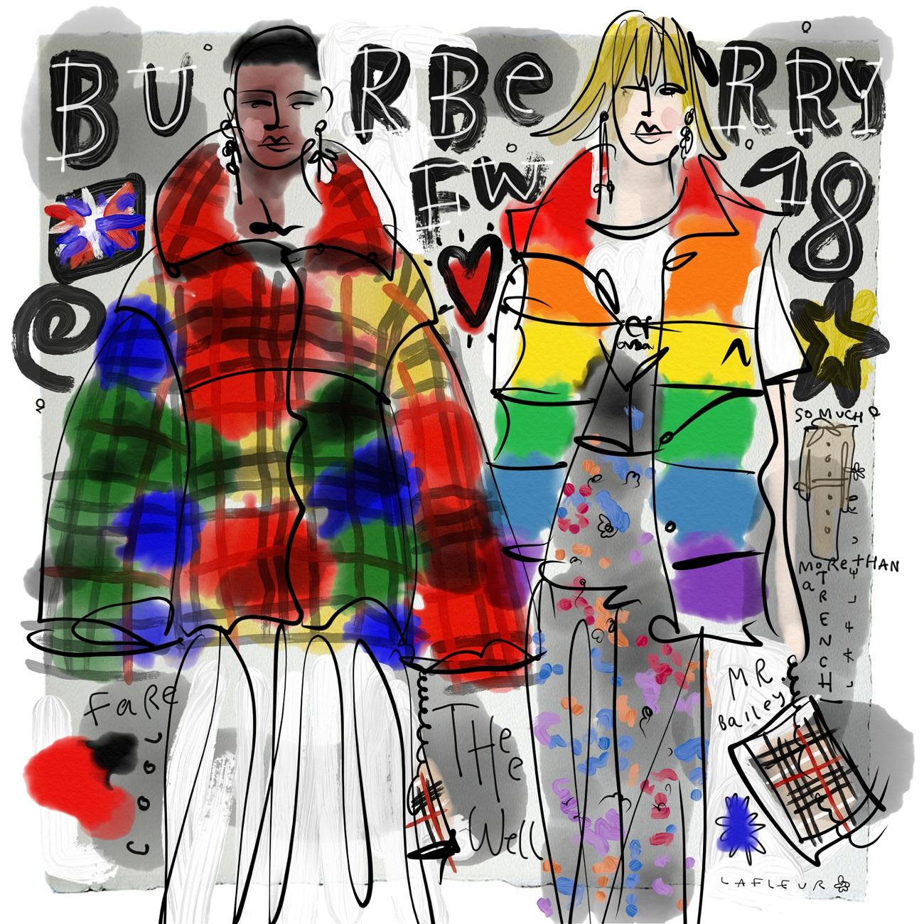 Burberry FW18 Blumenbabe Fashionela