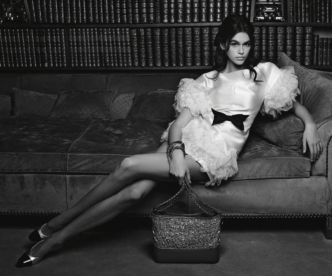 Chanel 2018 Kaia Gerber Karl Lagerfeld Fashionela
