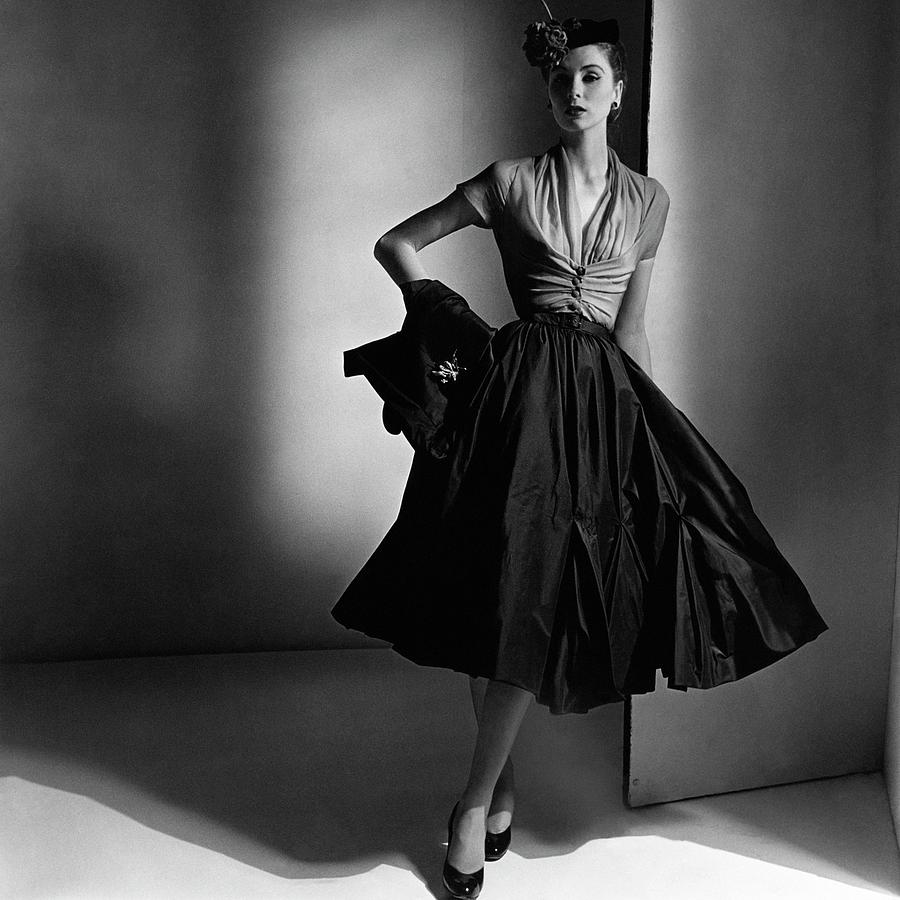 suzy-parker-wearing-a-dior-dress-and-jacket-horst-p-horst