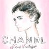 Pozivnica, portret Coco Chanel koji je nacrtao sam Karl Lagerfeld