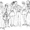S leva na desno: Manolo Blahnik, Anna Piaggi, Pat Cleveland, Antonio Lopez, Donna Jordan i Karl Lagerfeld