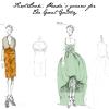 Skice kostima, koje je specijalno za film radila Miuccia Prada